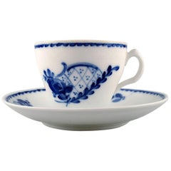 Royal Copenhagen Rococco Coffee Cup with Saucer, 11 Sets in Stock