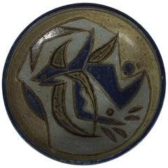 Royal Copenhagen Round Stoneware Bowl by Jørgen Mogensen, Denmark Midcentury
