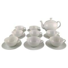 Royal Copenhagen, Salto Service, White, Tea Service for Eight People, 1960s