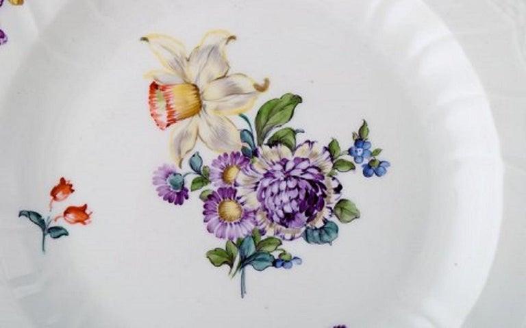 Danish Royal Copenhagen Saxon Flower, Twelve Dinner Plates, Decoration Number 4/1621