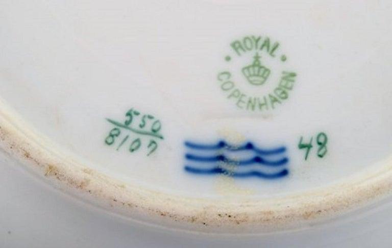 Royal Copenhagen Soup Plate in Hand Painted Porcelain, 17 Pcs in Stock In Good Condition For Sale In Copenhagen, Denmark