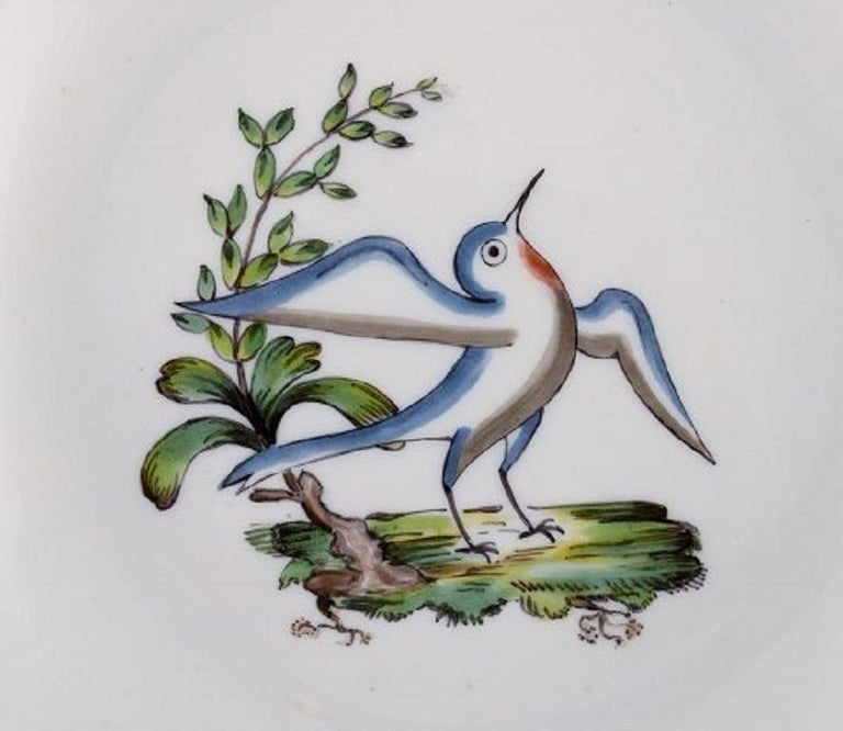 20th Century Royal Copenhagen Soup Plate in Hand Painted Porcelain, 17 Pcs in Stock For Sale