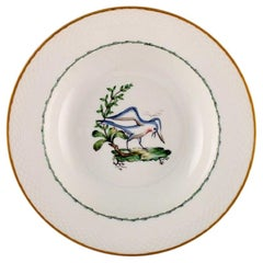 Royal Copenhagen Soup Plate in Hand Painted Porcelain, 17 Pcs in Stock