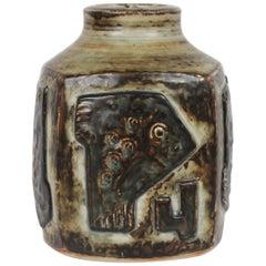 Royal Copenhagen Square Stoneware Vase by Jørgen Mogensen, Denmark, 1975-1979