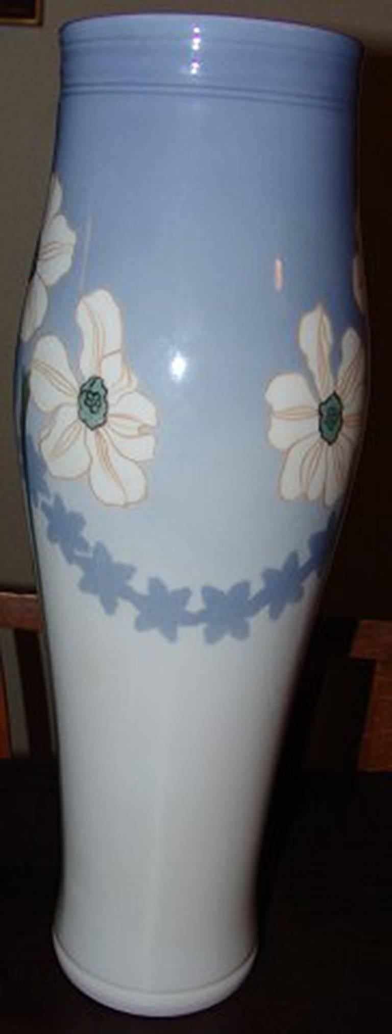 Royal Copenhagen unique vase by Anna Smidth #8486. Measures 45 cm and is in perfect condition. Signed by Anna Smith and date code is 2 and T.