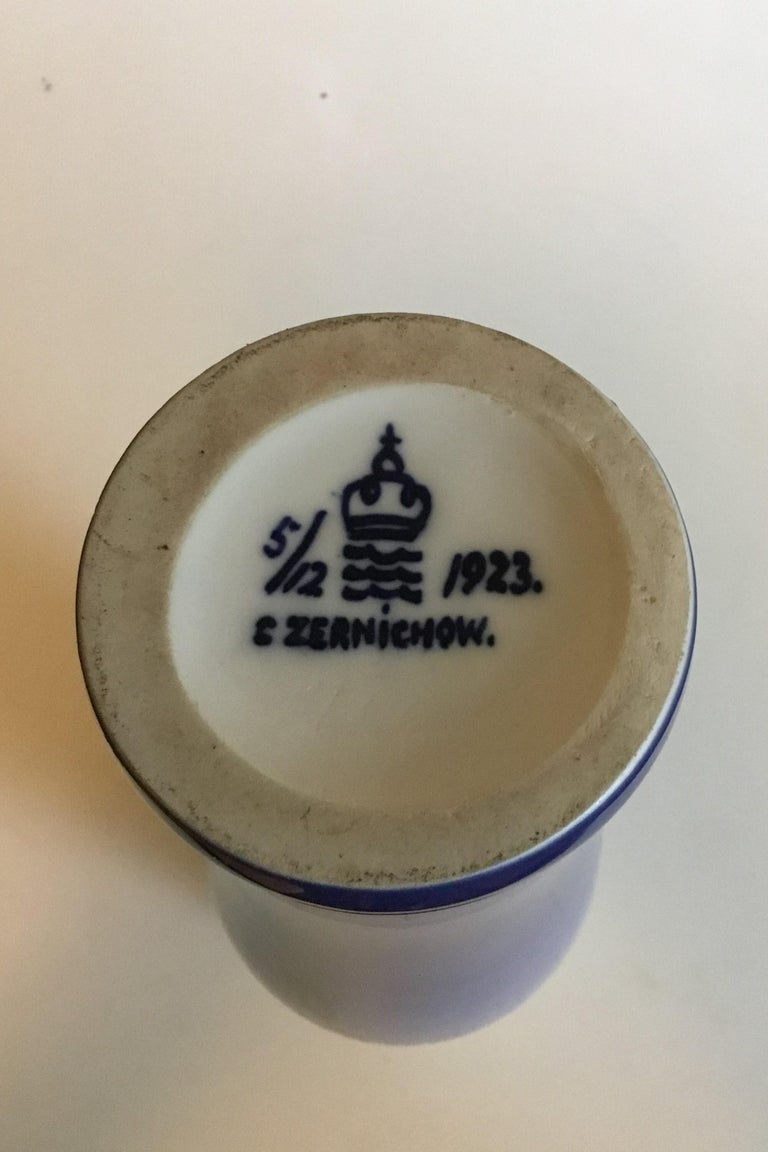 Hand-Painted Royal Copenhagen Unique Vase by Catherine Zernichow from 1923 For Sale