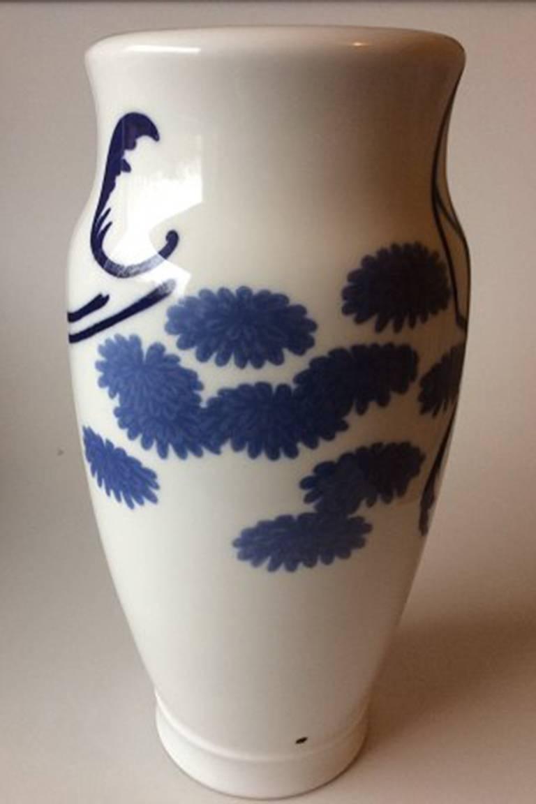 Art Nouveau Royal Copenhagen Unique Vase by Jenny Meyer from 1897 For Sale