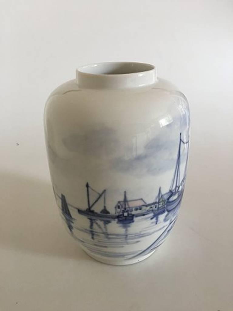 Art Nouveau Royal Copenhagen Unique Vase by Lars Swane #C 151 For Sale