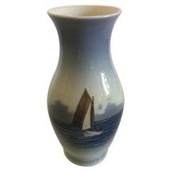 Royal Copenhagen Vase No. 2765/2289 with Maritime Ship Motif