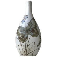 Royal Copenhagen Vase with Butterflies by Nils Thorsson, 1970s