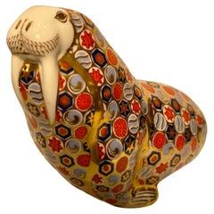 Royal Crown Derby English Bone China Millefiori Walrus Figurine or Paperweight