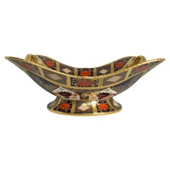 Royal Crown Derby Gold Hand-Painted Porcelain Imari Style Basket