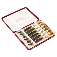 Royal Crown Derby Knife Set in Presentation Box