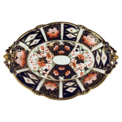 """""""Traditional Imari"""" Pattern #2451 Royal Crown Derby Oval Footed Serving Dish"""