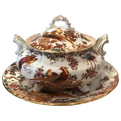 Royal Crown Derby Olde Avesbury Soup Tureen with Underplate