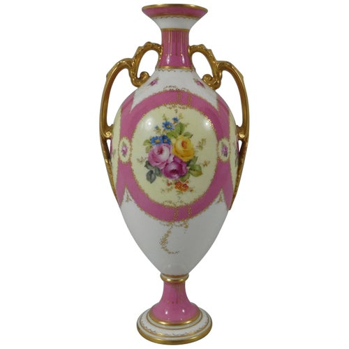 Royal Crown Derby Porcelain Vase, Dated 1902
