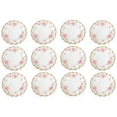 Royal Crown Derby Royal Pinxton Roses Dinner Serving Plates Set of 12
