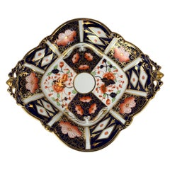 """Traditional Imari"" Royal Crown Derby  Pattern 2451 Lozenge Shaped Server"