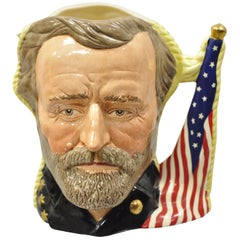 Royal Doulton Antagonists Collection Ulysses S. Grant Robert E. Lee Toby Mug