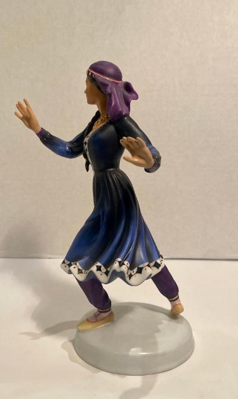 """Hand-Painted Royal Doulton """"Dancers of the World Kurdish Dancer"""" Limited Edition Figurine For Sale"""