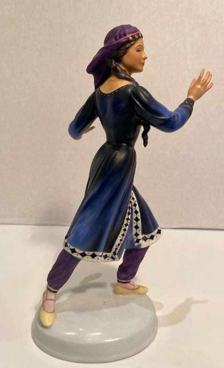 """20th Century Royal Doulton """"Dancers of the World Kurdish Dancer"""" Limited Edition Figurine For Sale"""