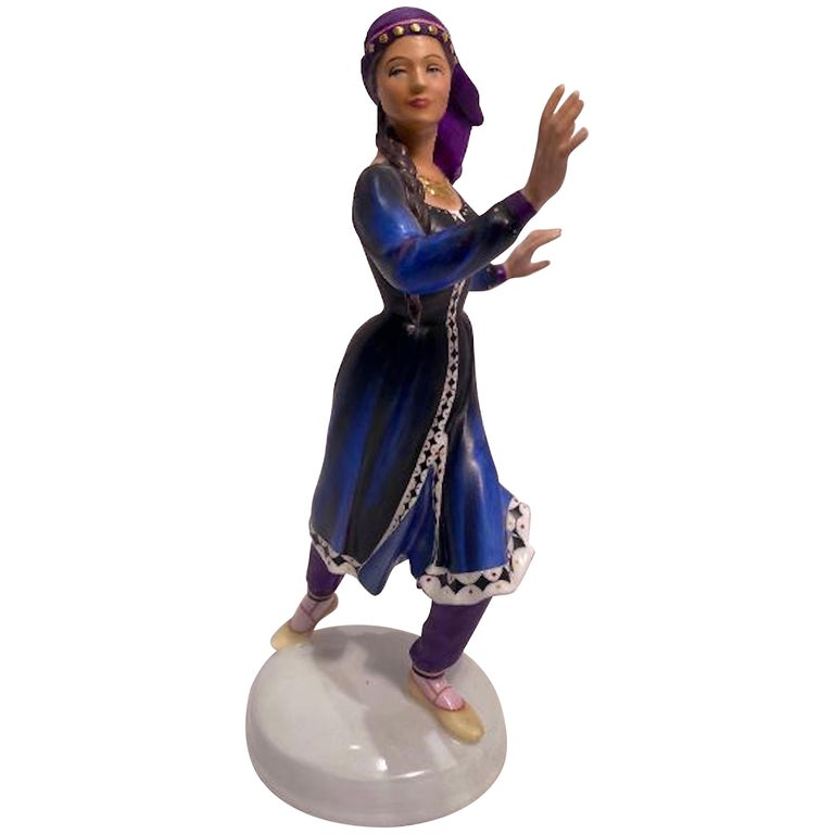 "Royal Doulton ""Dancers of the World Kurdish Dancer"" Limited Edition Figurine For Sale"