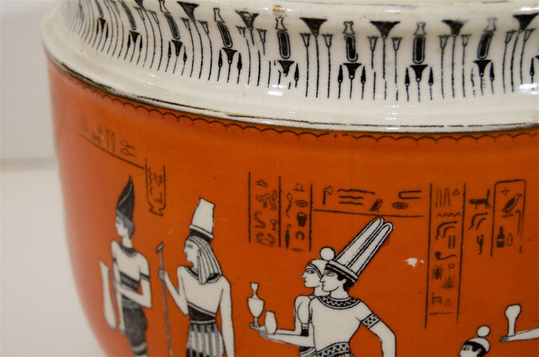 20th Century Royal Doulton Egyptian Revival Porcelain Jardinière For Sale
