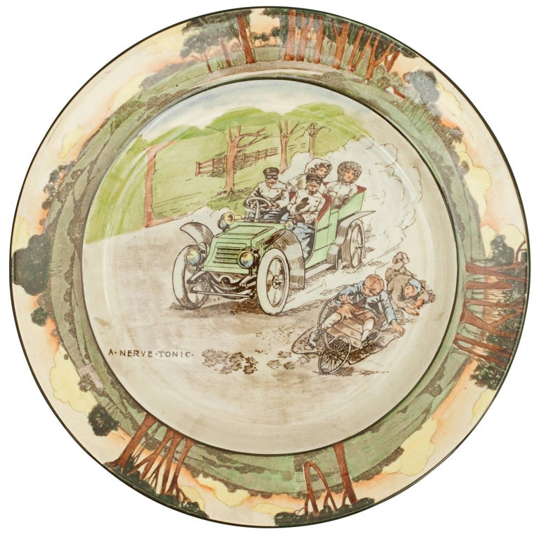 Royal Doulton Motoring Plate a Nerve Tonic For Sale