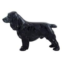 Royal Doulton Porcelain Figurine, Black Cocker Spaniel, 1930s