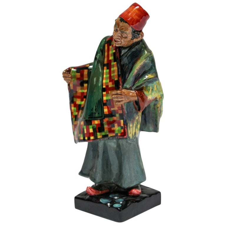 "Royal Doulton ""the Carpet Seller"" Moroccan Decorative Porcelain Figurine For Sale"