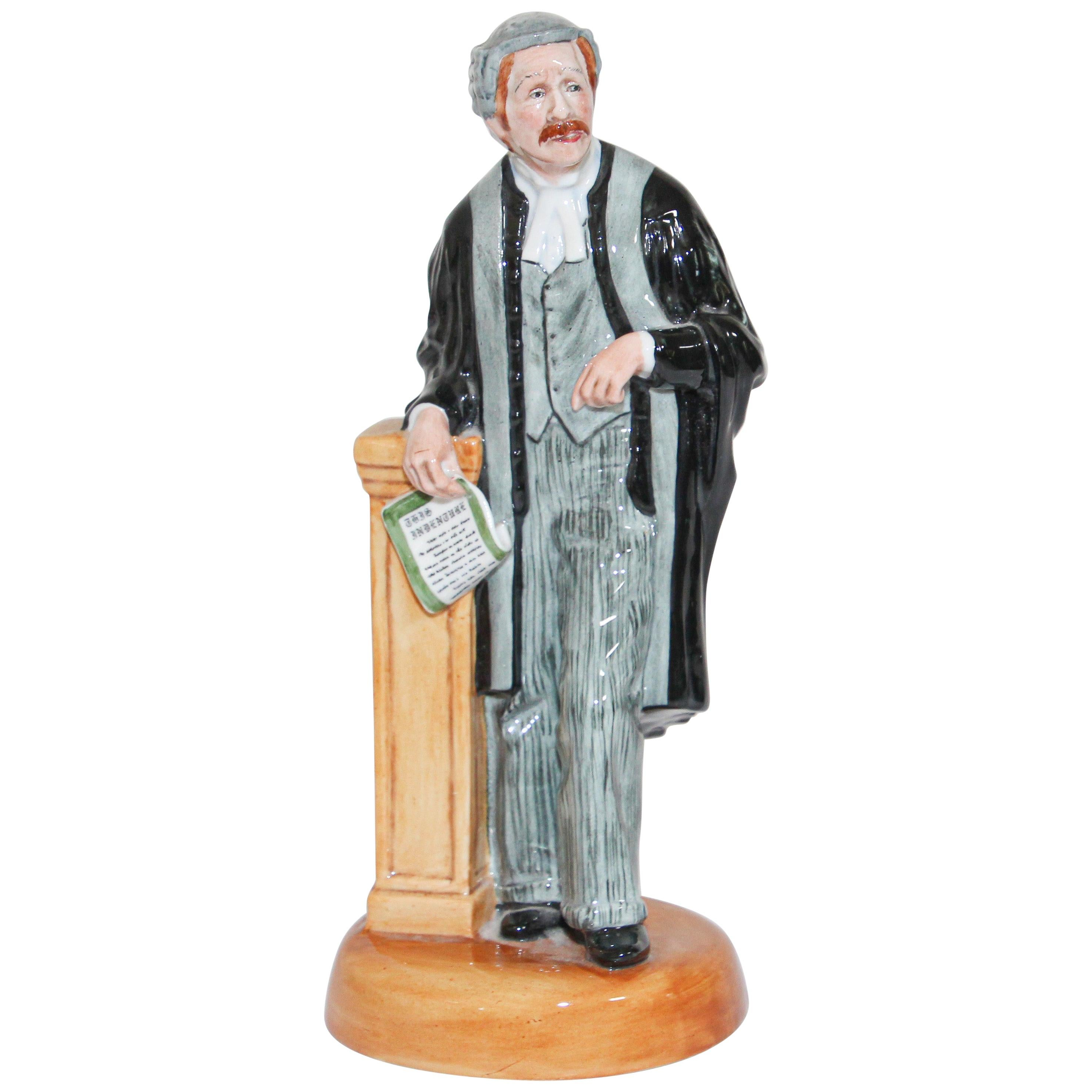 """Royal Doulton """"The Lawyer"""" HN 3041 British Collectible Porcelain Figurine"""