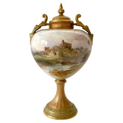 Royal Doulton Vase and Cover, J.H.Plant, C. 1900