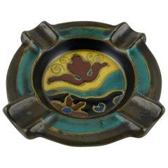 Royal Dutch Art Nouveau Ceramic Ashtray or Key Holder/Vide Poche
