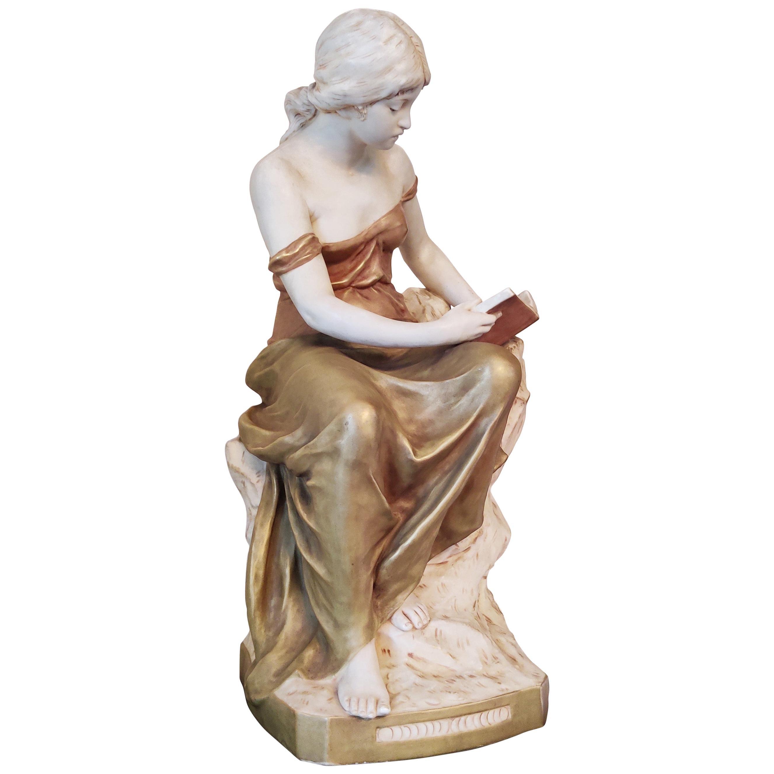 Royal Dux Bohemia Large Porcelain Sculpture, 1900s