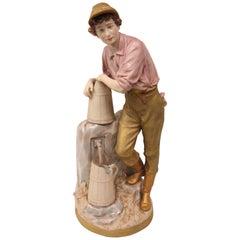 Royal Dux Pheasant Boy Figurine