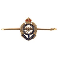 Royal Engineers Enamel Regimental Brooch