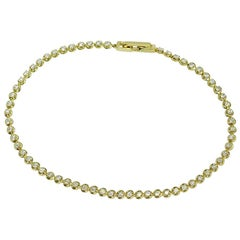 Royal Fine Jewelry White Diamond Yellow Bracelet 14 Karat Gold