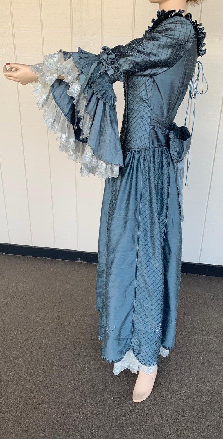 Royal French Marie Antoinette Style Custom Made Silk Ballroom Gown Dress 5