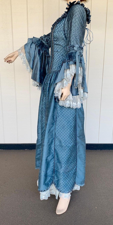 Royal French Marie Antoinette Style Custom Made Silk Ballroom Gown Dress 6