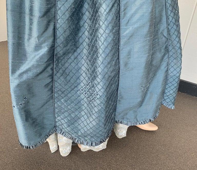 Royal French Marie Antoinette Style Custom Made Silk Ballroom Gown Dress 7