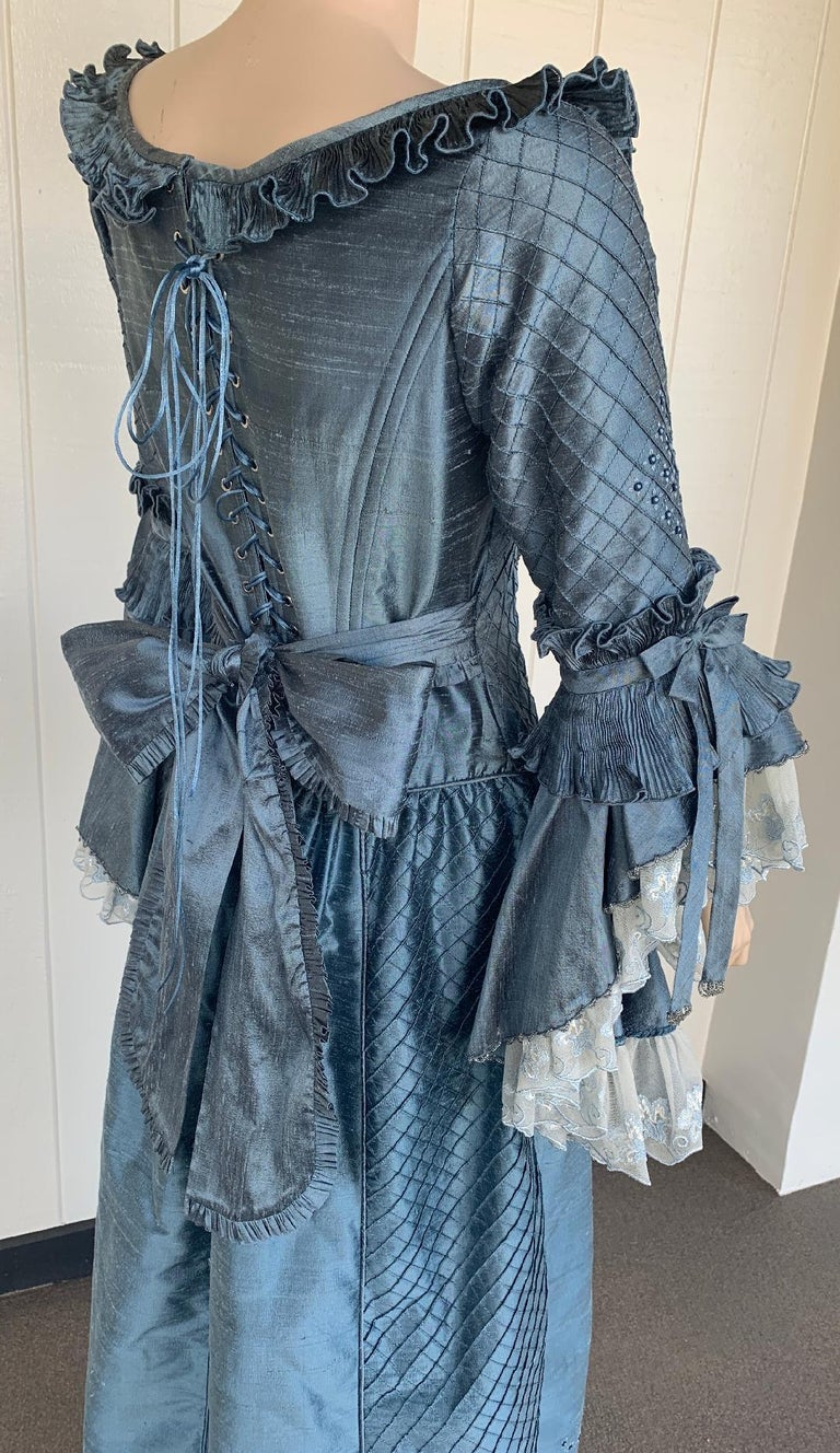 Royal French Marie Antoinette Style Custom Made Silk Ballroom Gown Dress 9