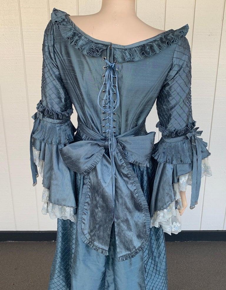 Royal French Marie Antoinette Style Custom Made Silk Ballroom Gown Dress 10