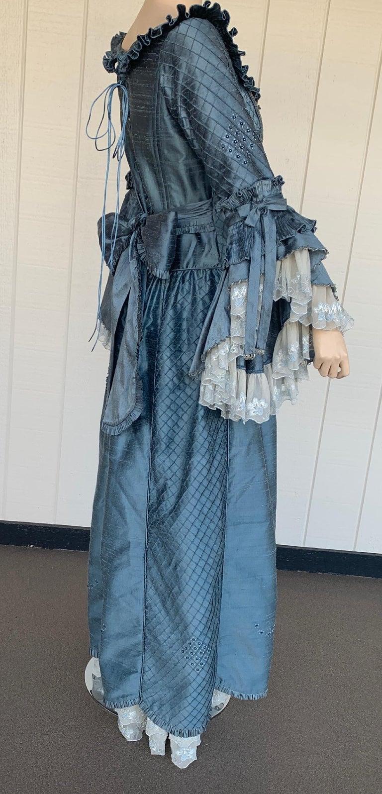 Royal French Marie Antoinette Style Custom Made Silk Ballroom Gown Dress 11