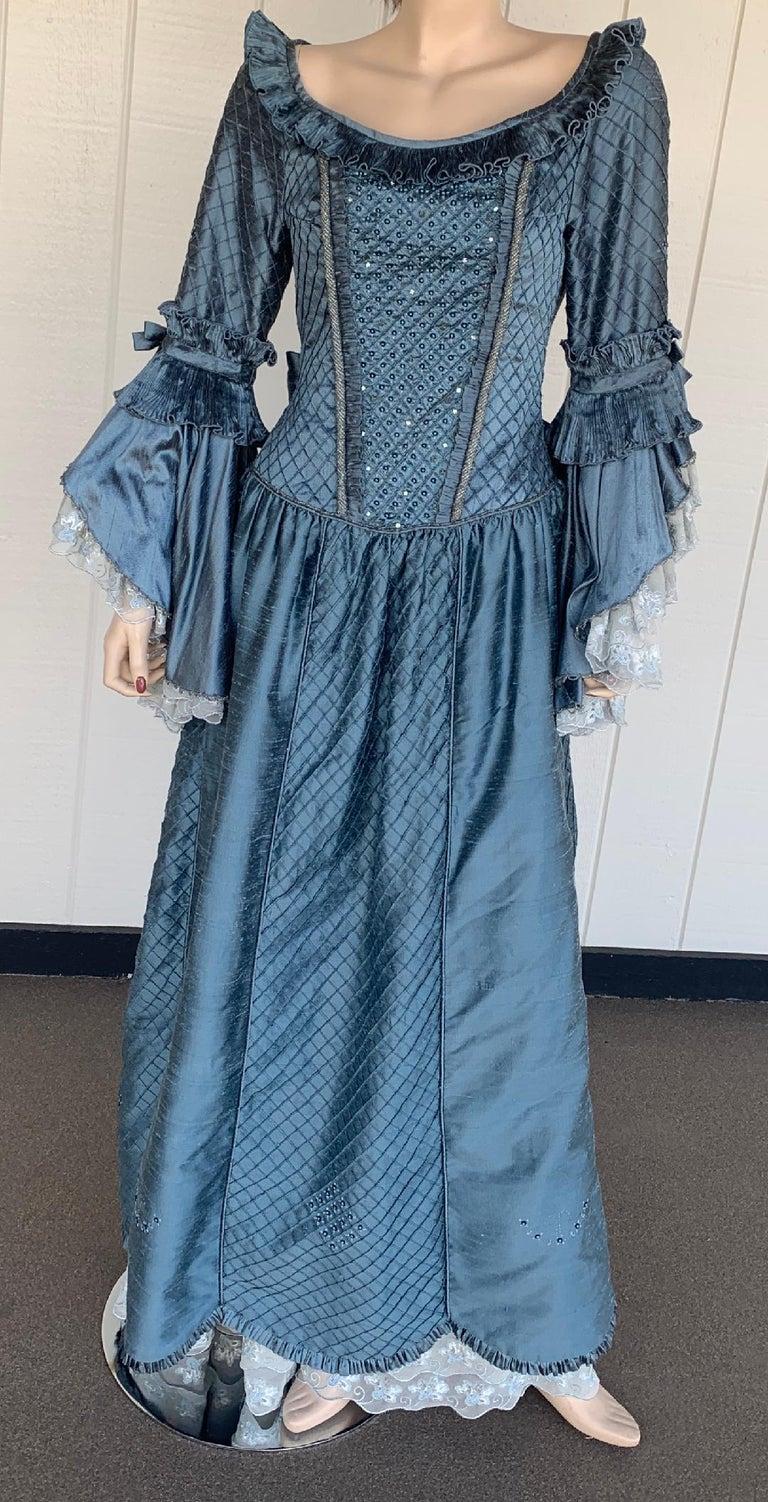 Royal French Marie Antoinette Style Custom Made Silk Ballroom Gown Dress 12