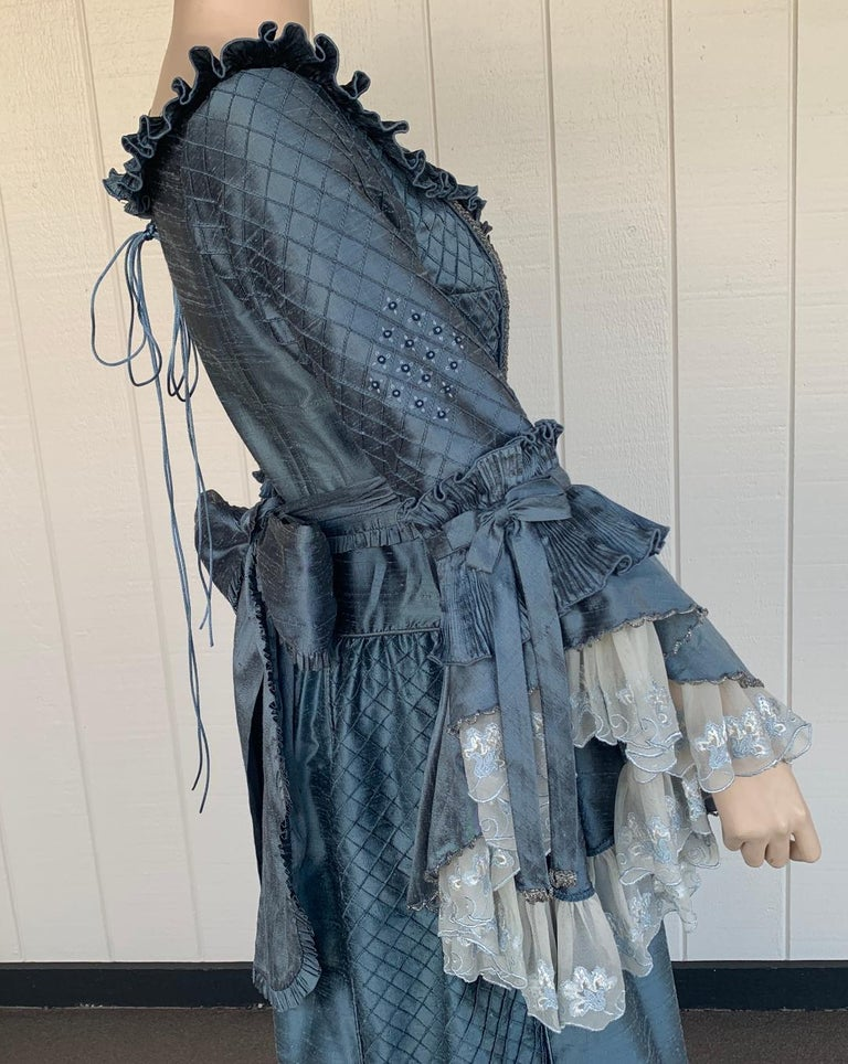 Women's Royal French Marie Antoinette Style Custom Made Silk Ballroom Gown Dress