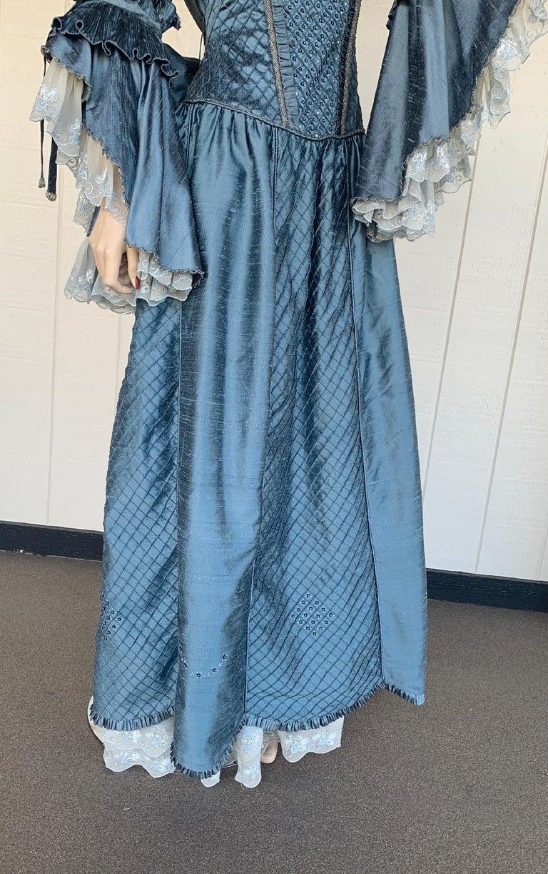 Royal French Marie Antoinette Style Custom Made Silk Ballroom Gown Dress 1