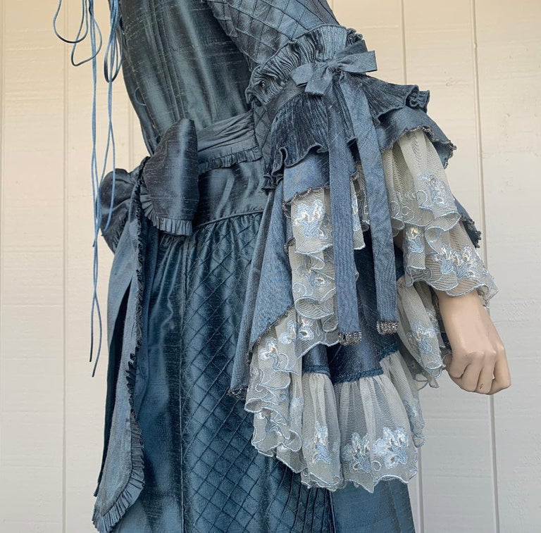 Royal French Marie Antoinette Style Custom Made Silk Ballroom Gown Dress 3