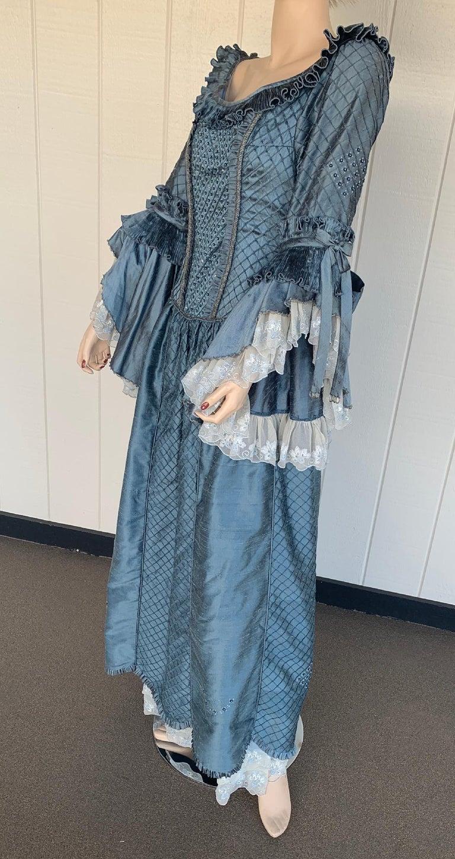 Royal French Marie Antoinette Style Custom Made Silk Ballroom Gown Dress 4