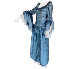 Royal French Marie Antoinette Style Custom Made Silk Ballroom Gown Dress