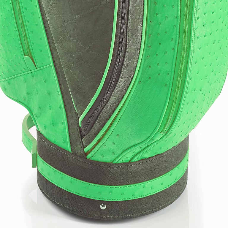 Italian Royal Green Golf Bag by Barchi For Sale